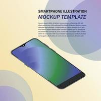 smartphone illustration for mockup template vector