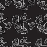 Ginkgo Biloba seamless pattern vector