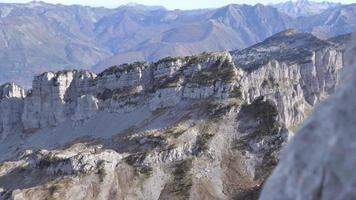 Hand-held detail of a mountainous landscape. video