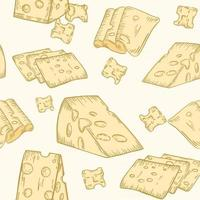 Seamless pattern with cheese vector