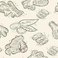 Ginger seamless pattern vector