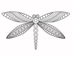 Dragonfly vector graphic illustration
