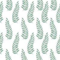 Seamless pattern with green branches vector