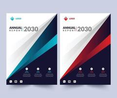 Annual Report Design Layout Template, Corporate Business Flyer Template, Creative Modern Trendy Design To use Multipurpose  Project vector