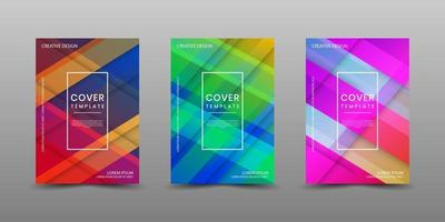 Minimal covers design. Modern background with abstract texture for use element poster, placard, catalog, banner, flyer, etc. Multicolor shapes with overlap layer style. Future geometric patterns. vector