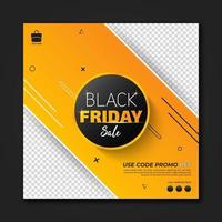 Black Friday promotion sale social media banner template, Special offer banner. Sale and discount backgrounds. Vector illustration.