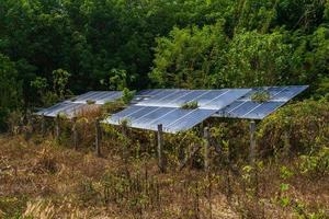 Solar panel and Nature photo