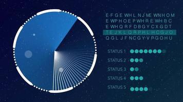 Radar arbeitet mit Textcode und Statusleistenhintergrund video