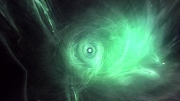 loop espaço-tempo viajando através do hiperespaço turquesa de buraco de minhoca video