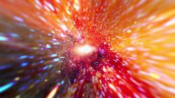 hyperspace lichtsnelheid vlucht door gouden ruimtetijd video