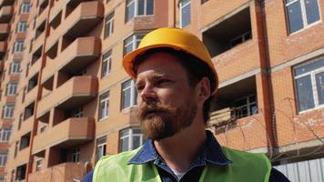 Construction Manager in a Yellow Helmet video