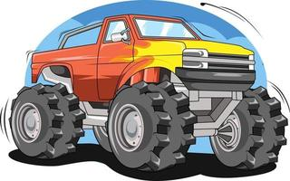 off road car illustration hand drawing vector