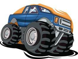 king off road monster truck vector