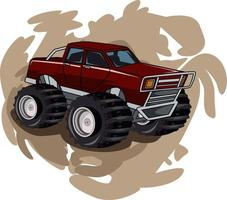 10. monster truck with abstract background vector
