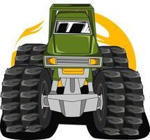 super off road monster truck illustration vector