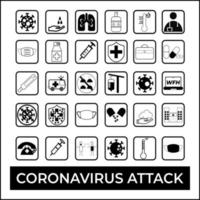 Simple Set of Coronavirus Attack Protection Related Vector Line Icons Collection of linear simple web Editable vector stroke