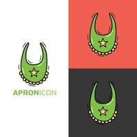 Apron kawaii icon logo For Baby and Children cute cartoon hand drawn doodle icon sticker vector