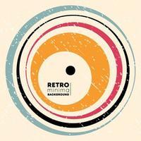 Diseño de fondo retro con líneas circulares y textura grunge vintage. ilustración vectorial. vector