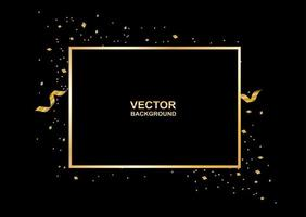 Abstract. Black and gold luxury celebration background. Vector. vector