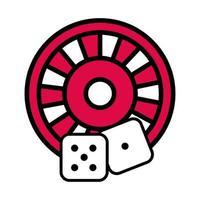 ruleta con dados casino vector