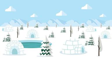 north pole arctic Landscape Background concept vector