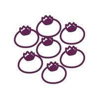 fresh blueberries fruits isolated icon vector