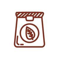 tea bag beverage line style icon vector