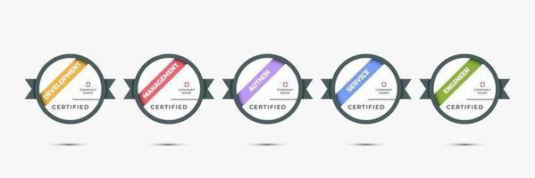 Certification digital skill badge. Modern certified icon logo template. Vector sign emblem illustration.