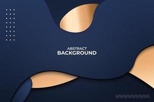 3D Modern Abstract presentation background with paper cut style. vector