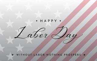 Happy labor day wishes banner vector