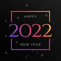 Happy New Year 2022 Greeting Wishing Card banner vector
