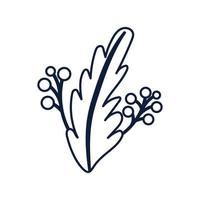 ecology leaf plant isolated icon vector