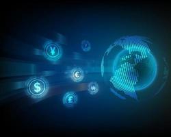 global currency exchange network concept vector