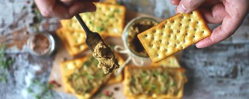 Homemade liver pate. Delicious homemade pate with spices and herbs photo