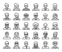 People Avatar Outline Vector Icons