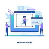 Flat design motion graphic concept vector