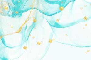 Turquoise abstract watercolor marble vector background