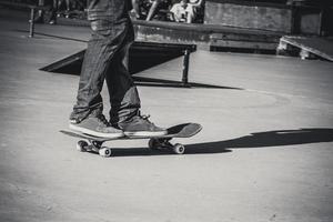 detalle de la línea de skate foto