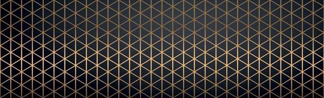 Abstract golden lines on a black background - Vector