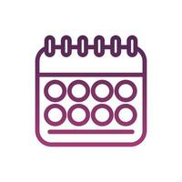 calendar reminder date line style vector