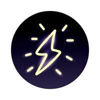ray power neon light style icon vector