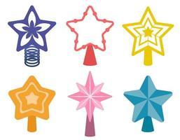 Set of christmas stars vector