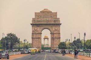The India Gate war memorial in New Delhi, India photo