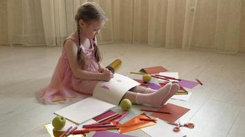 A Small Child Drawing Pictures video
