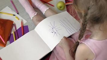 A Little Girl Drawing video