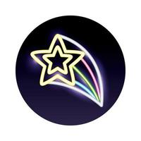 stars decoration neon light icon vector
