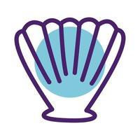 sea shell line style icon vector