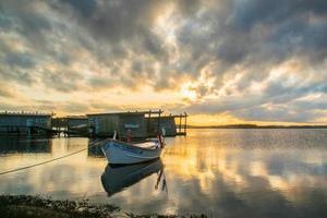 El Bonete, Uruguay, 2021 - Sunset in the Garzon Lagoon photo