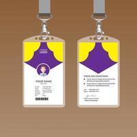 Purple Elegant ID Card Design Template vector