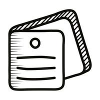 notes documents doodle line style icon vector